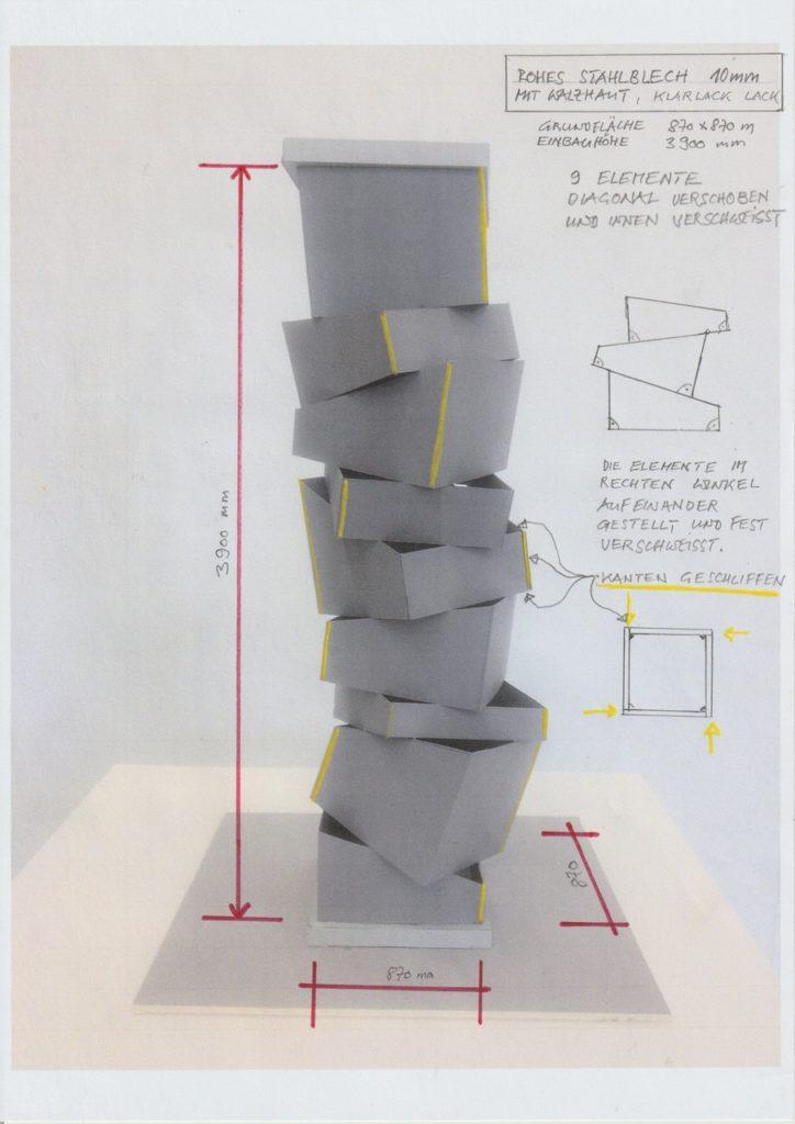 Beat Zoderer Säule STOA169, Entwurf